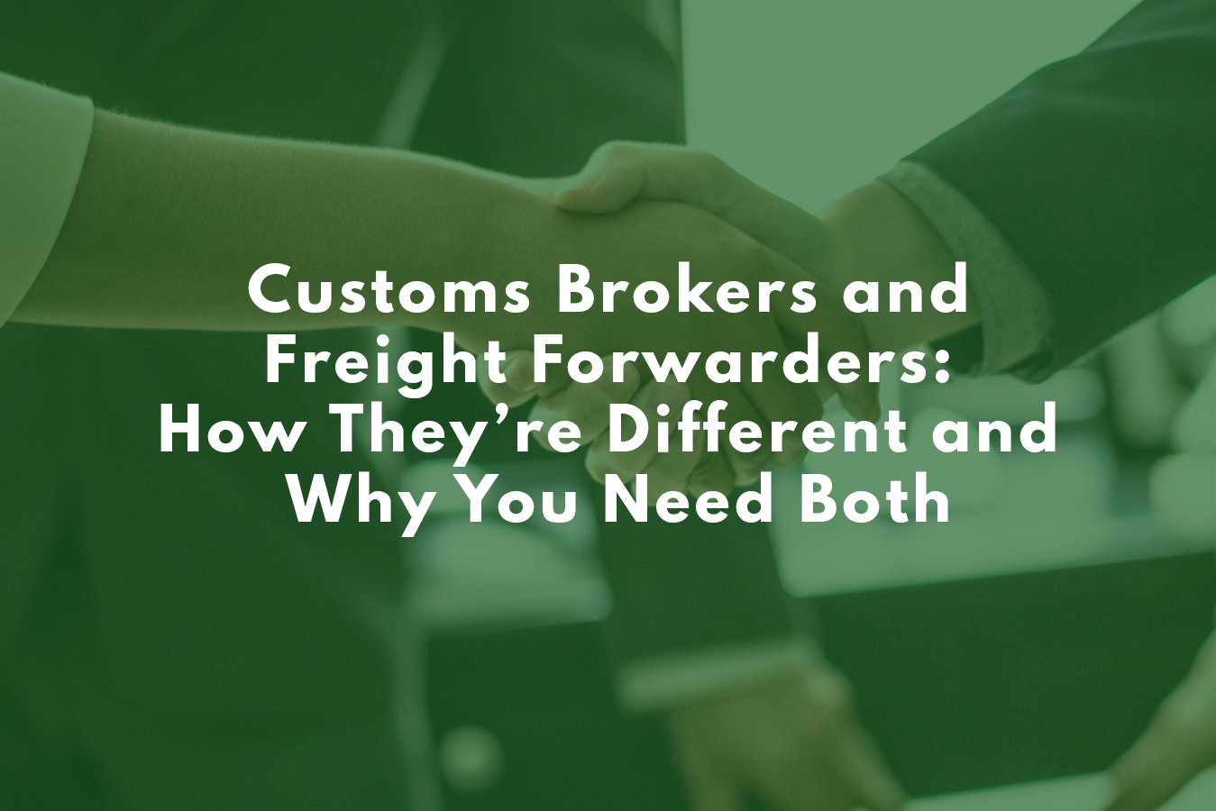 customs broker freight forwarder