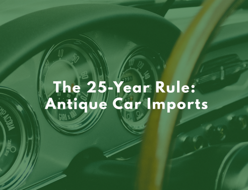 The 25-Year Rule: Antique Car Imports