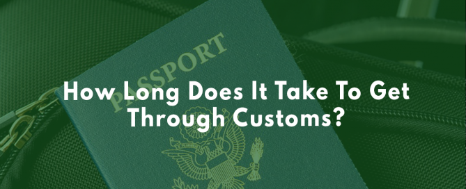 Going through customs at the airport