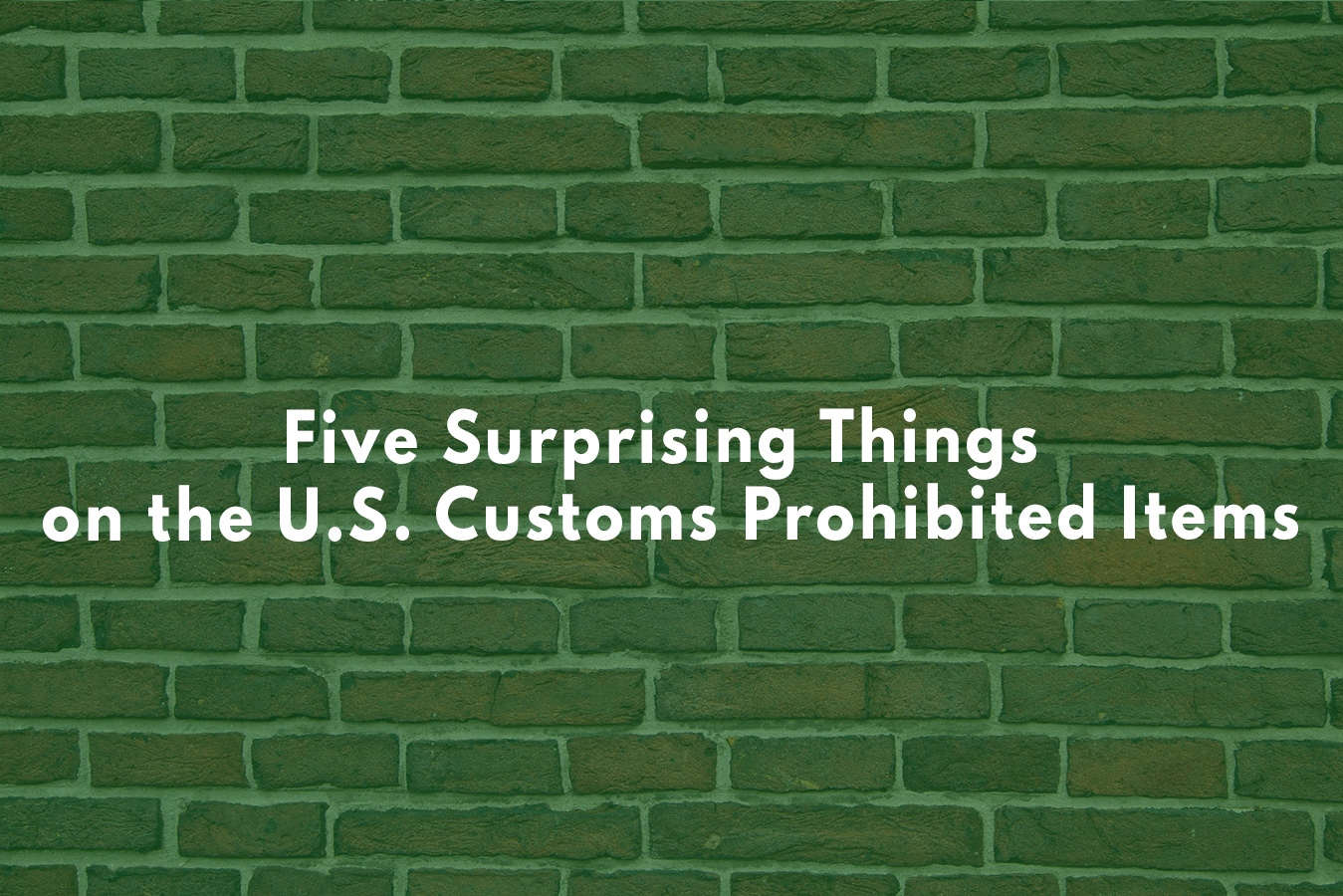 U.S. customs banned items
